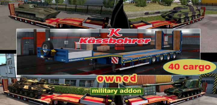 Photo of ETS2 – Military Addon for Ownable Trailer Kassbohrer Lb4E V1.1.3 (1.38.x)
