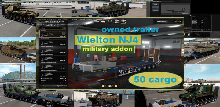 Photo of ETS2 – Military Addon for Ownable Trailer Wielton Nj4 V1.5.3 (1.38.x)