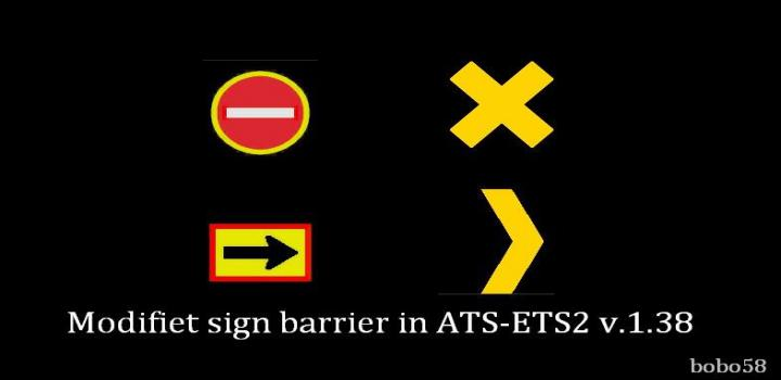 Photo of ETS2 – Modifiet Sign Barrier (1.38.x)