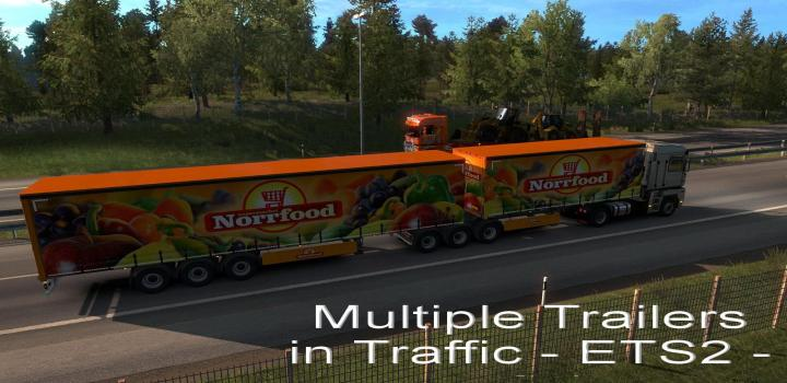 Photo of ETS2 – Multiple Trailers In Traffic V6.1 (1.38.x)