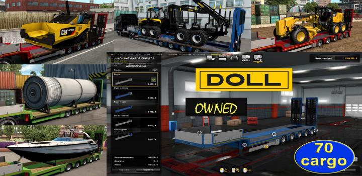 Photo of ETS2 – Ownable Overweight Trailer Doll Panther V1.4.4 (1.38.x)
