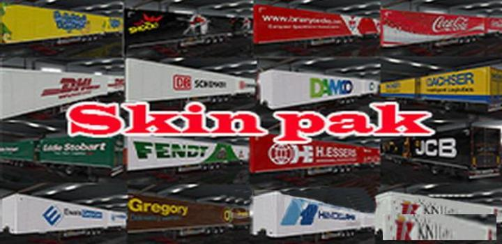 Photo of ETS2 – Pack Of Skins No1 (1.38.x)