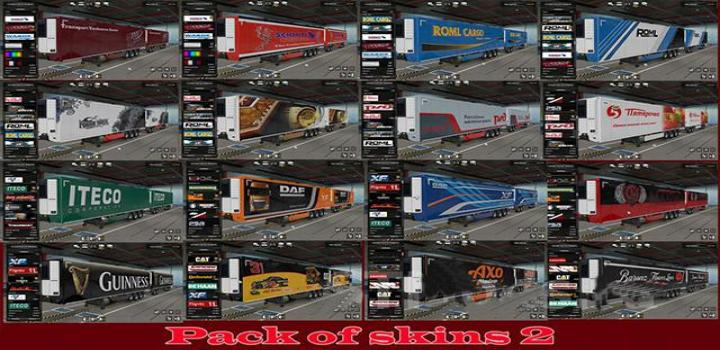 Photo of ETS2 – Pack Of Trailer Skins 2 (1.38.x)