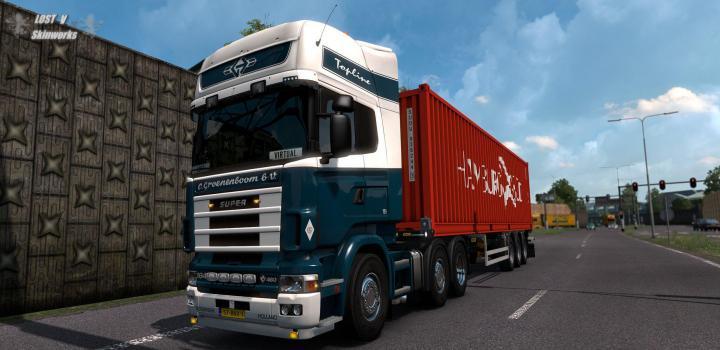 Photo of ETS2 – Rjl Scania Groenenboom Transporten Skin V1 (1.37.x)