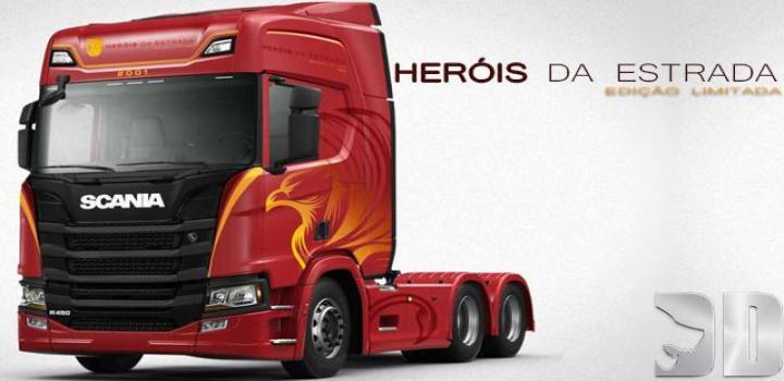 Photo of ETS2 – Scania Herois Da Estrada Skin V1 (1.37.x)