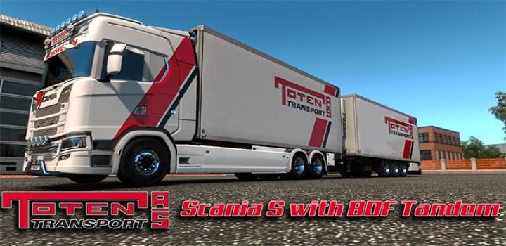 Photo of ETS2 – Scania S Tandem Toten Transport Skin V1 (1.38.x)