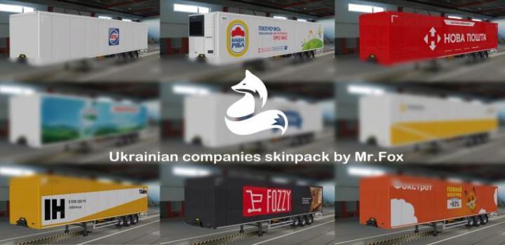 Photo of ETS2 – Skinpack Of Ukrainian Companies V1 (1.38.x)