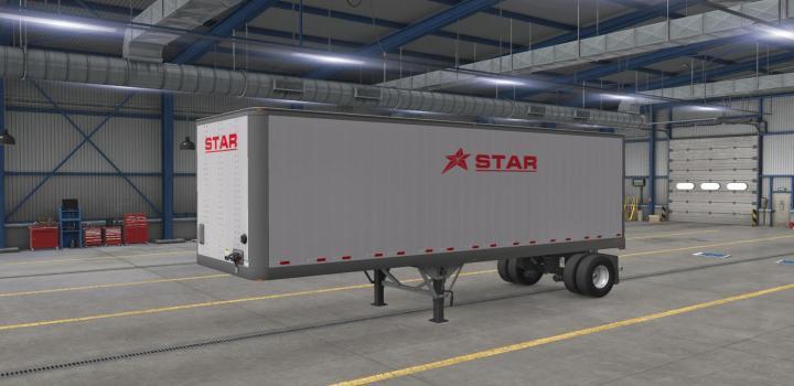 Photo of ATS – Star Transport Inc. Scs Box Trailer Skin Pack V1 (1.38.x)