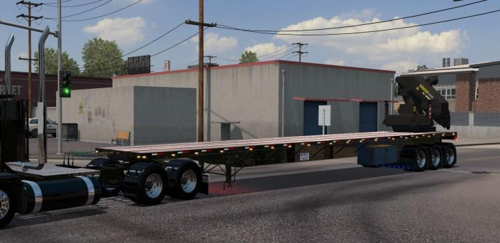 Photo of ATS – Transcraft Tl2000 Trailer With Crane (1.38.x)