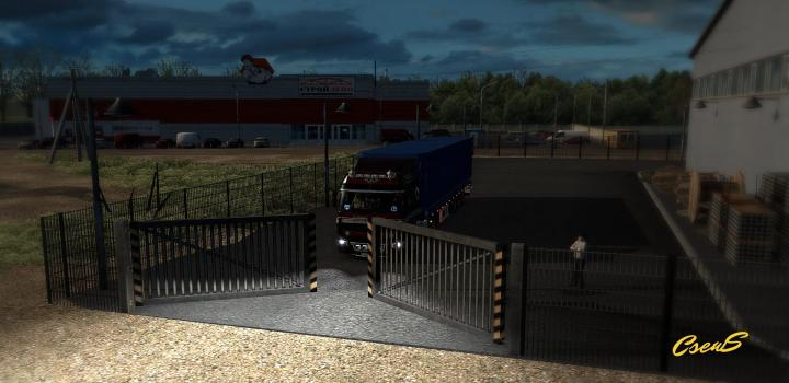 Photo of ETS2 – Animated Gates In Companies V3.8 (1.38.x)