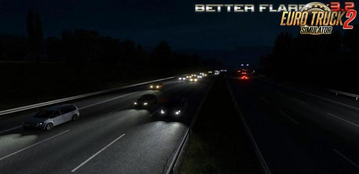 Photo of ETS2 – Better Flares 3.3A Addons for Jazzycat Packs (1.38.x)