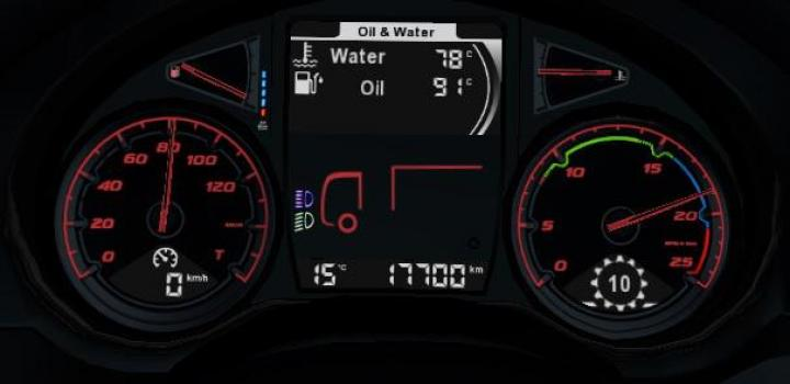 Photo of ETS2 – Daf Xf Euro 6 More Readable Dashboard V1.4 (1.38.x)