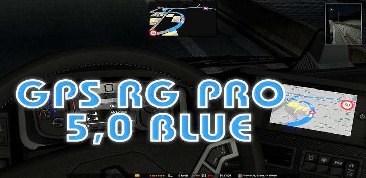 Photo of ETS2 – Gps Rg Pro Blue V5 (1.38.x)