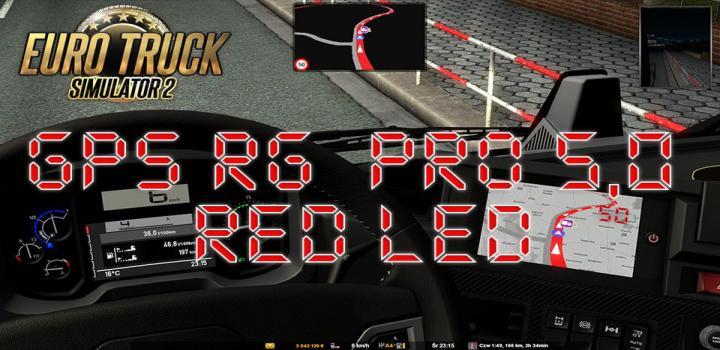 Photo of ETS2 – Gps Rg Pro Red Led V5 (1.38.x)