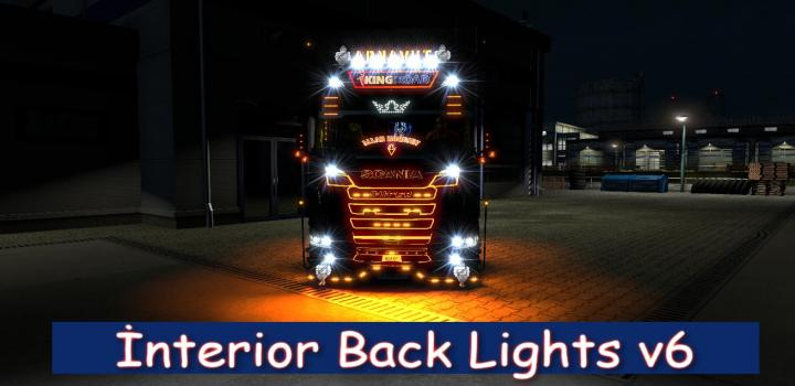 Photo of ETS2 – Interior Back Lights V6 (1.38.x)