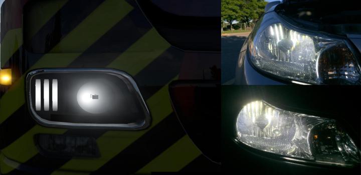 Photo of ETS2 – Mercedes Actros Lights V1 (1.38.x)