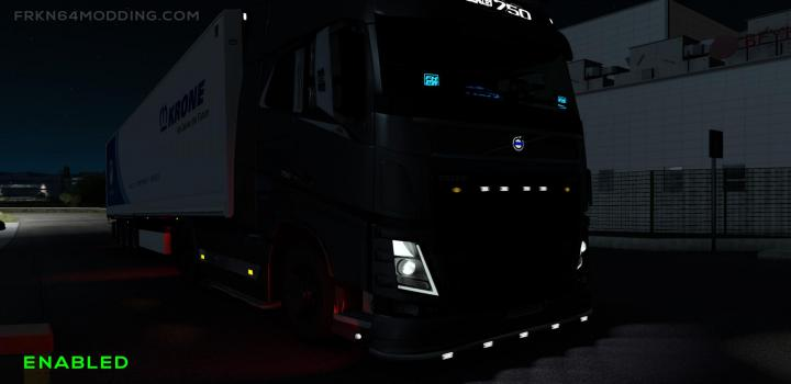 Photo of ETS2 – Non-Flared Vehicle Lights V4 (1.38.x)