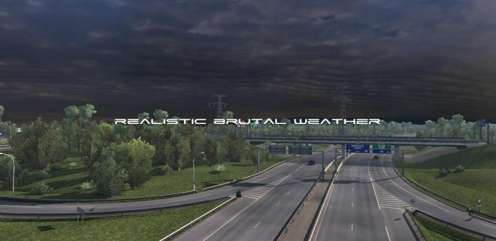 Photo of ETS2 – Realistic Brutal Weather V5.4 (1.38.x)