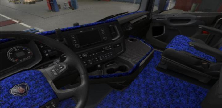 Photo of ETS2 – Scania Nextgen S & R Blue Pluche Interior V1 (1.38.x)