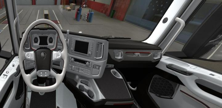 Photo of ETS2 – Scania S 2016 White – Black Interior V1 (1.38.x)