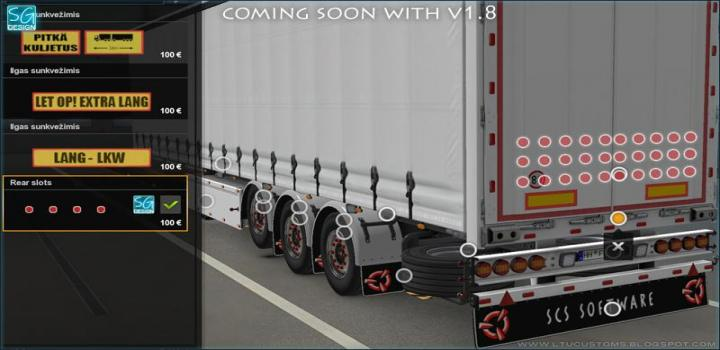 Photo of ETS2 – Scs Trailer Tuning Pack V1.8 (1.38.x)