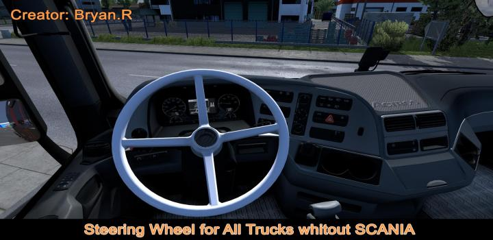 Photo of ETS2 – Volant 4 Branches All Trucks (1.38.x)
