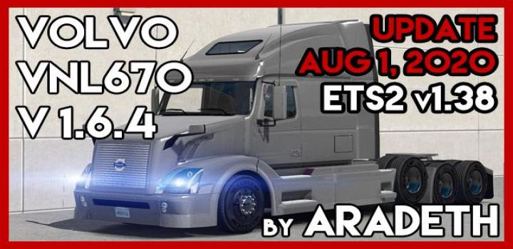 Photo of ETS2 – Volvo Vnl 670 Truck V1.6.4 (1.38.x)