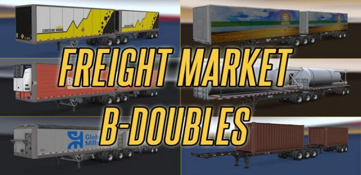 Photo of ATS – B-Double Trailers In Freight Market V1 (1.38.x)
