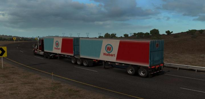 Photo of ATS – Freight Market B-Double Trailers (1.38.x)