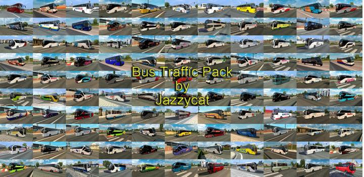 Photo of ETS2 – Bus Traffic Package V10.2 (1.38.x)