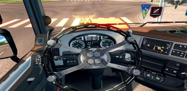 Photo of ETS2 – Chain Steering Wheel (1.38.x)