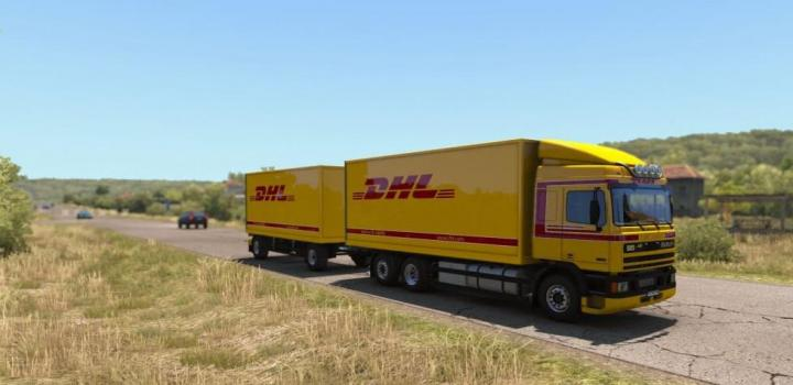Photo of ETS2 – Dhl Skin By Kript for Daf 95Ati By Xbs V1.1 (1.38.x)