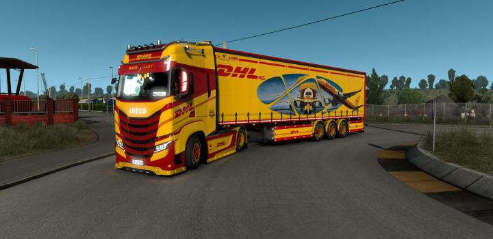 Photo of ETS2 – Dhl Tnt Trucks & Trailers Skin (1.38.x)