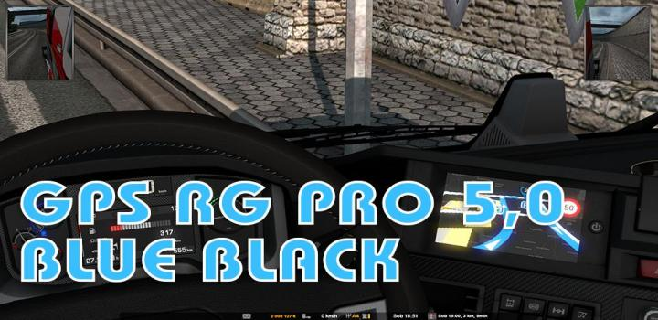 Photo of ETS2 – Gps Rg Pro Blue Black V5 (1.38.x)