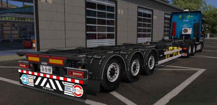 Photo of ETS2 – Korean Container Trailer V1.0 (1.38.x)