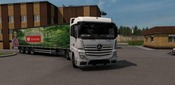 Photo of ETS2 – Lena Trucker Youtube Curtainside Trailer V1 (1.38.x)