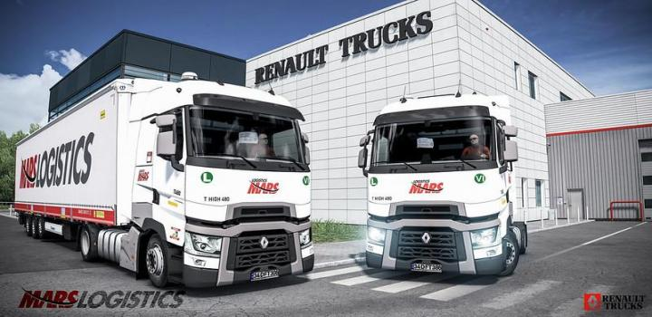 Photo of ETS2 – Mars Logistics T 480 High Skin V1 (1.38.x)