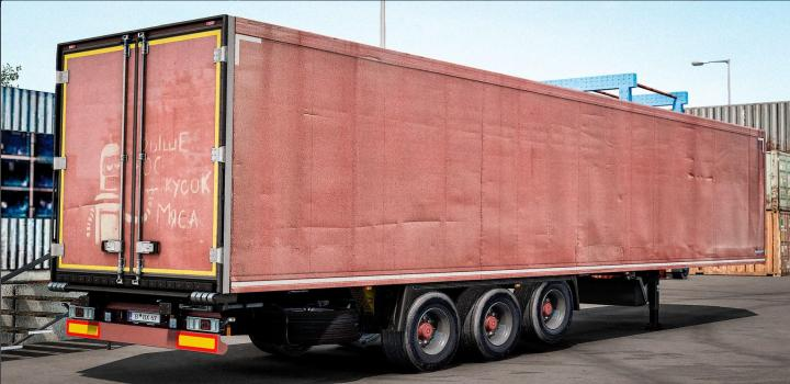 Photo of ETS2 – Old Red Trailer For Your Own Krone Trailer V1 (1.38.x)
