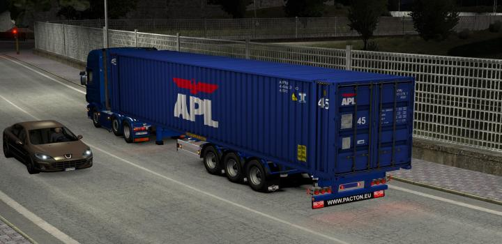 Photo of ETS2 – Pacton Container Pack V16.09.20 (1.38.x)