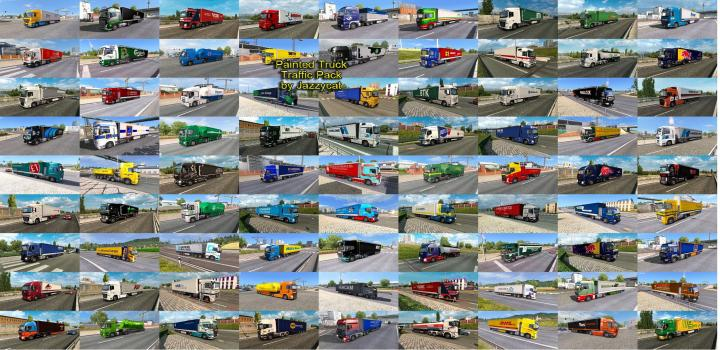 Photo of ETS2 – Painted Truck Traffic Pack V11.3 (1.38.x)