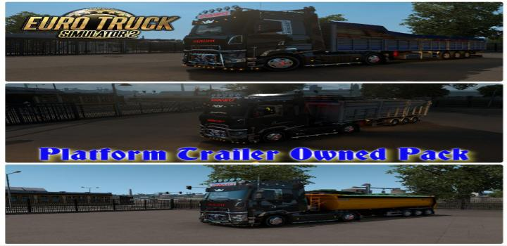 Photo of ETS2 – Platform Trailer Owned Pack (1.38.x)