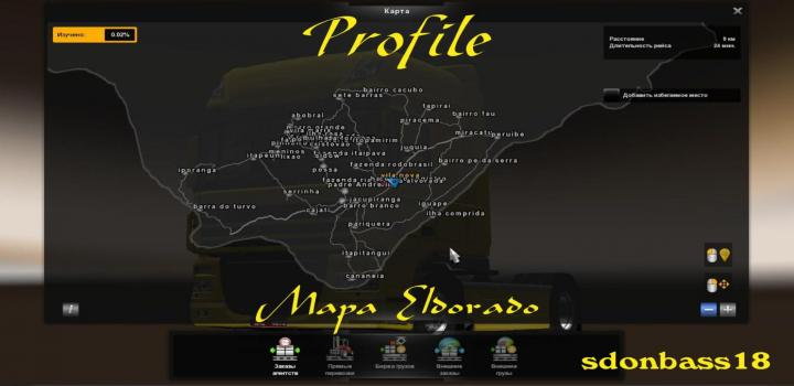 Photo of ETS2 – Profile For The Map Eldorado Free V1 (1.38.x)