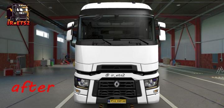 Photo of ETS2 – Renault T New Headlight Addon V1.1 (1.38.x)