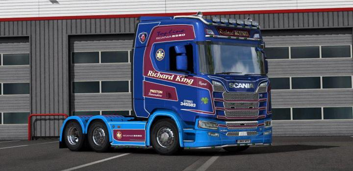 Photo of ETS2 – Richard King Haulage Skin for Scania S (1.38.x)