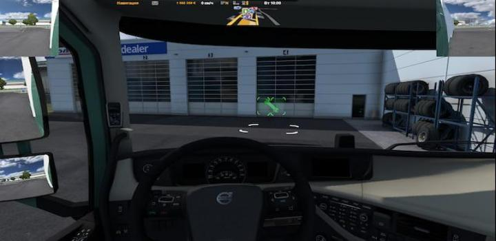 Photo of ETS2 – Route Advisor & Middle Mirrors V1 (1.38.x)