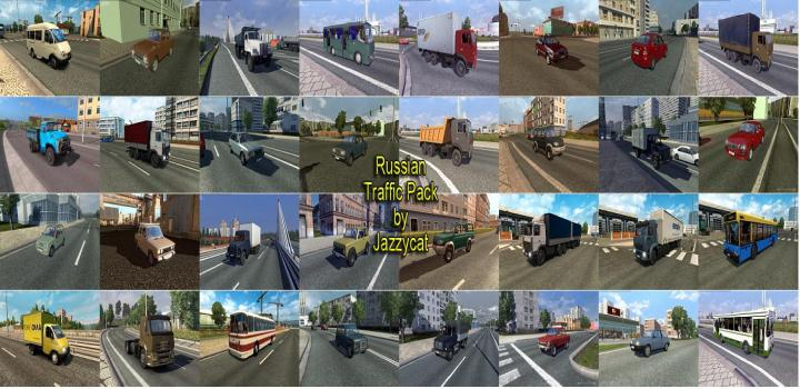 Photo of ETS2 – Russian Traffic Package V3.1 (1.38.x)