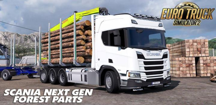 Photo of ETS2 – Scania R Rjl Rigid Forest Parts V1.2 (1.36.x)