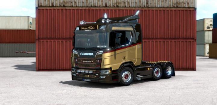 Photo of ETS2 – Scania R Theo Hoks Skin V1 (1.38.x)