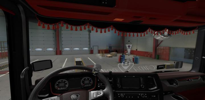 Photo of ETS2 – Scania Red Interior V1.1 (1.38.x)