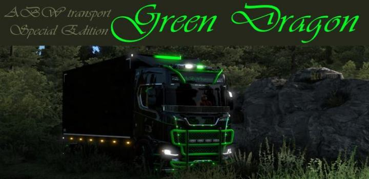 Photo of ETS2 – Scania S Green Dragon Skin V1 (1.38.x)